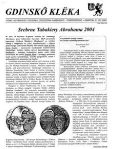 Gdinskô Klëka : biuletyn Gdyńskiego Oddziału Zrzeszenia Kaszubsko-Pomorskiego Kwartał III Nr (31) 2004