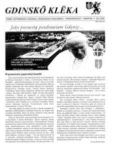 Gdinskô Klëka : biuletyn Gdyńskiego Oddziału Zrzeszenia Kaszubsko-Pomorskiego Kwartał II Nr (34) 2005