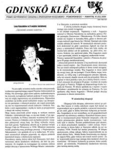 Gdinskô Klëka : pismo Gdyńskiego Oddziału Zrzeszenia Kaszubsko-Pomorskiego. Kwartał III Nr 3 (53) 2009