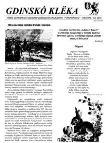 Gdinskô Klëka : pismo Gdyńskiego Oddziału Zrzeszenia Kaszubsko-Pomorskiego Kwartał I Nr1 (55) 2010