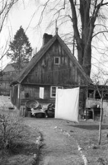 Chałupa zrębowa w zagrodzie J.Lipińskiego - Borsk