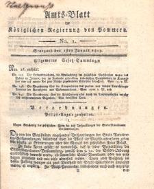 Amts-Blatt der Königlichen Regierung von Pommern 1813