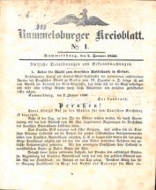 Rummelsburger Kreisblatt 1850