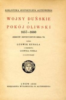 Wojny duńskie i pokój oliwski 1657-1660 (szkiców historycznych seria VI)