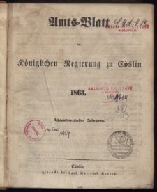 Amts-Blatt der Königlichen Regierung zu Cöslin 1863