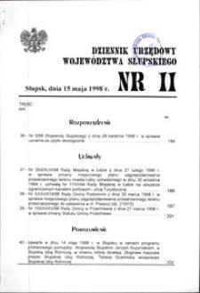 Dziennik Urzędowy Województwa Słupskiego. Nr 11/1998