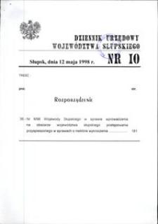 Dziennik Urzędowy Województwa Słupskiego. Nr 10/1998
