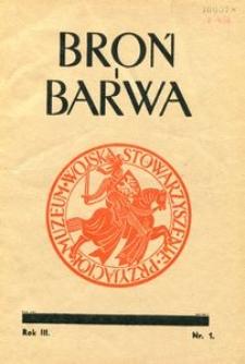 Broń i Barwa, 1936, nr 1