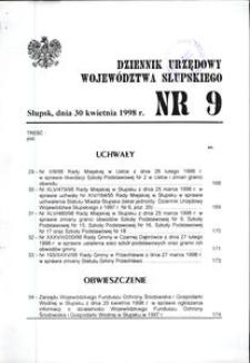 Dziennik Urzędowy Województwa Słupskiego. Nr 9/1998