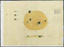 Grzybnica - rzut poziomy i przekroje grobów jamowych. Stan. 1