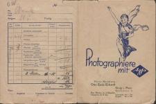Photo-Handlung Otto Erich Eckardt Stolp i. Pom. [rachunek za usługę fotograficzną]
