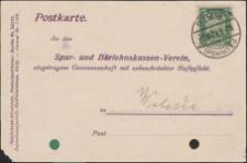 Spar- und Darlehnskassen-Verein [korespondencja bankowa]