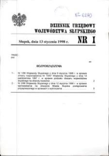 Dziennik Urzędowy Województwa Słupskiego. Nr 1/1998