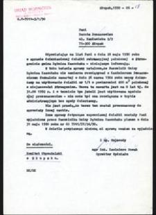 [Pismo Urzędu Wojewódzkiego w Słupsku]