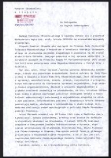 [Pismo do Delegatów na Sejmik Samorządowy]