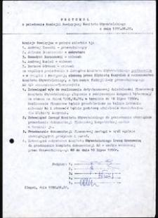Protokół z posiedzenia Komisji Rewizyjnej Komitetu Obywatelskiego z dnia 1990.06.20