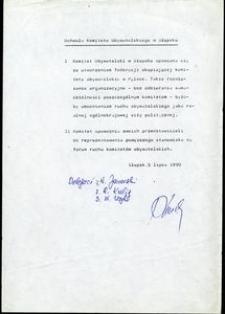 Uchwała Komitetu Obywatelskiego w Słupsku