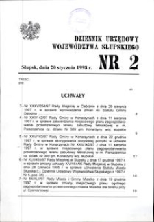 Dziennik Urzędowy Województwa Słupskiego. Nr 2/1998