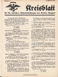 Kreisblatt für die amtlichen Bekanntmachungen des Kreises Belgard 1936 Nr 6