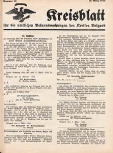 Kreisblatt für die amtlichen Bekanntmachungen des Kreises Belgard 1936 Nr 10