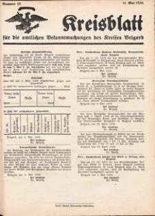 Kreisblatt für die amtlichen Bekanntmachungen des Kreises Belgard 1936 Nr 18