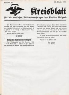 Kreisblatt für die amtlichen Bekanntmachungen des Kreises Belgard 1936 Nr 42