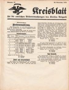 Kreisblatt für die amtlichen Bekanntmachungen des Kreises Belgard 1936 Nr 49