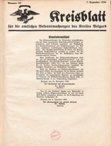 Kreisblatt für die amtlichen Bekanntmachungen des Kreises Belgard 1936 Nr 50