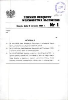 Dziennik Urzędowy Województwa Słupskiego. Nr 1/1997