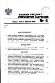 Dziennik Urzędowy Województwa Słupskiego. Nr 4/1997
