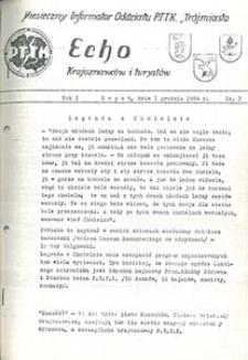Echo Krajoznawców i Turystów, 1958, nr 3