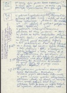Notatka Jerzego Lisieckiego z afery podsłuchowej SB w Biurze Wyborczym KO w Słupsku