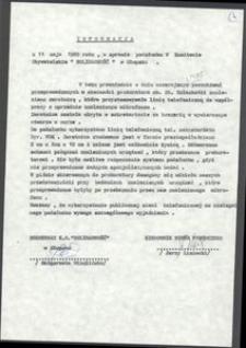 """Informacja w sprawie podsłuchu w KO """"Solidarność"""" w Słupsku"""