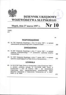 Dziennik Urzędowy Województwa Słupskiego. Nr 10/1997