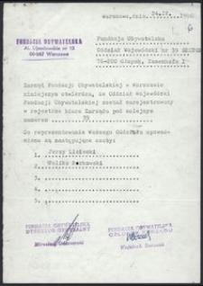 Fundacja Obywatelska Oddział Wojewódzki nr 39 Słupsk