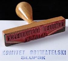 Pieczątka Komitetu Obywatelskiego w Słupsku