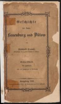 Geschichte der Lande Lauenburg und Bütow