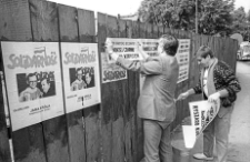 Solidarność 1989 wybory parlamentarne [plakatowanie 7]