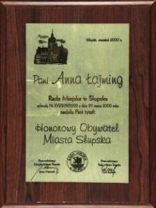 Honorowy Obywatel Miasta Słupska