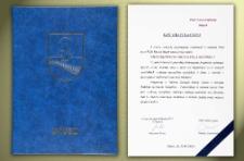 Lipusz - List Gratulacyjny [z okazji nadania tytułu Honorowego Obywatela Miasta Słupska]