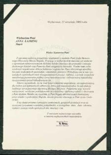 Muzeum Piśmiennictwa i Muzyki Kaszubsko-Pomorskiej w Wejherowie [list gratulacyjny z okazji nadania tytułu Honorowego Obywatela Miasta Słupska]