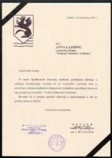 Zrzeszenie Kaszubsko-Pomorskie [list gratulacyjny]