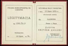 Legitymacja Nr 1268-78-11