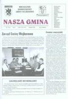 Nasza Gmina. Miesięcznik Samorządowy Gminy Wejherowo, 2001, sierpień, Nr 5 (63)