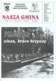 Nasza Gmina. Miesięcznik Samorządowy Gminy Wejherowo, 2001, listopad, Nr 8 (66)