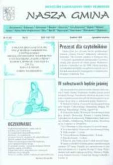 Nasza Gmina. Miesięcznik Samorządowy Gminy Wejherowo, 1999, grudzień, Nr 12 (46)