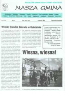 Nasza Gmina. Miesięcznik Samorządowy Gminy Wejherowo, 1997, kwiecień, Nr 4 (14)