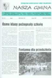 Nasza Gmina. Miesięcznik Samorządowy Gminy Wejherowo, 1997, lipiec, Nr 7 (17)