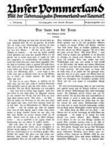 Unser Pommerland : Mit der Nebenausgabe: Pommerland und Neumark, 4. Jahrgang, Januar 1917