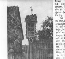 Kapliczka przy dworku Ostrowskich - Trzebuń